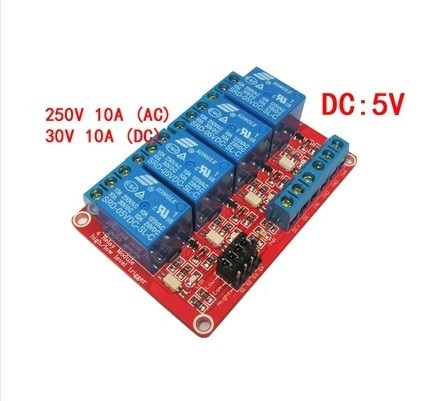 Relay Module 5V 4 Channel isolation High And Low Trigger 250V/10A