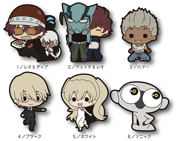 Blood Blockade Battlefront - TINY Rubber Strap Vol.2 6Pack BOX(Pre-order)