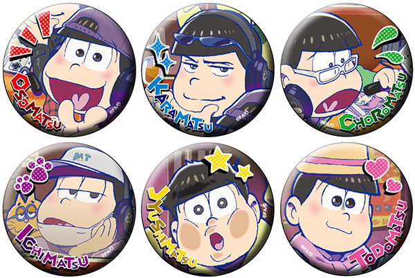 Osomatsu-san - Chara Badge Collection B 6Pack BOX(Pre-order)
