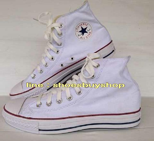 รองเท้า converse หุ้มข้อ สีขาว