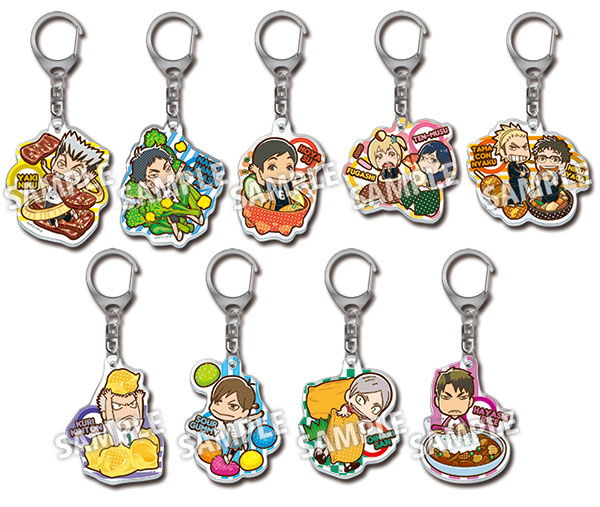 Haikyuu!! - Acrylic Food Keychain Part.2 10Pack BOX(Pre-order)