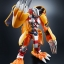 "Digivolving Spirits 01 WarGreymon Kanzen Henkei Figure ""Digimon Adventure""(Pre-order) thumbnail 4"