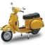 1/12 Complete Motorcycle Model VESPA P200E (1978/Yellow)(Pre-order) thumbnail 1