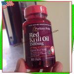 Red krill oil 1500mg.Plus225mg.Omega3 30 softgels(Puritan's pride)