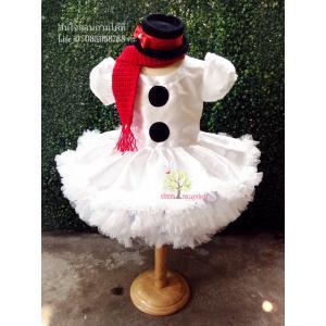 ชุดสโนว์แมน ชุดตุ๊กตาหิมะ ชุดซานตารีน่า ชุดคริสมาส