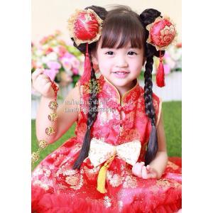 ชุดกี่เพ้าเด็ก ชุดจีนเด็ก ชุดตรุษจีนเด็ก พร้อมกิ๊บซาลาเปา