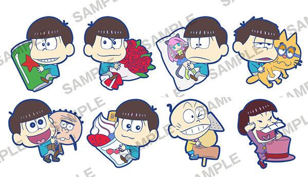 Osomatsu-san - PitaColle Rubber Strap 8Pack BOX(Pre-order)