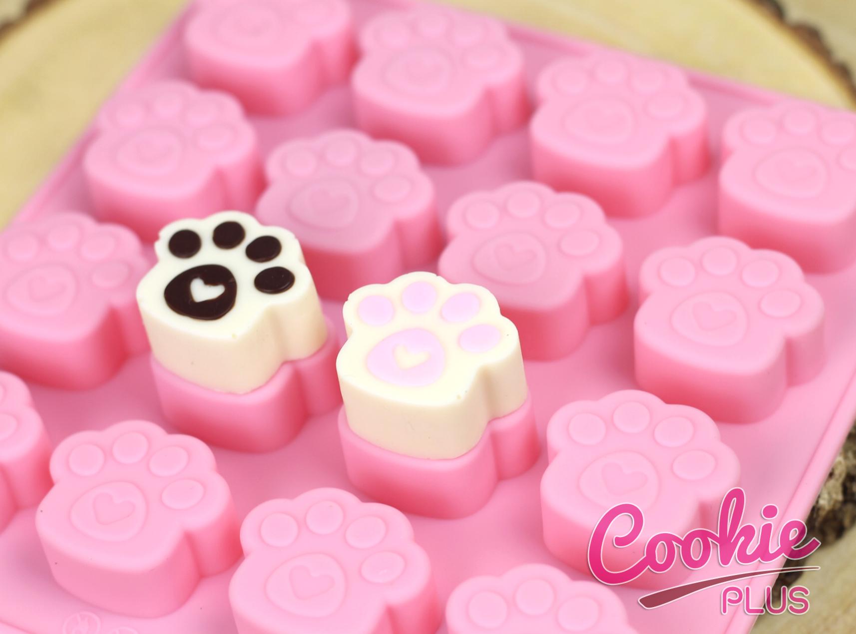 แม่พิมพ์ซิลิโคน สำหรับทำขนม ลายอุ้งมือแมว