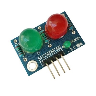 LED Module ไฟแสดงสถานะ 2 ดวง 10mm สีแดง สีเขียว