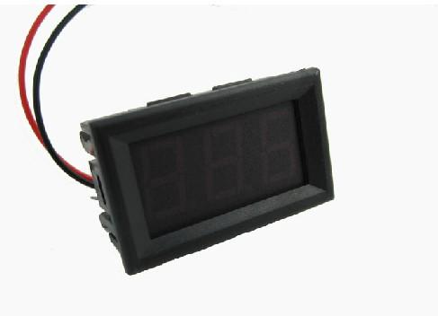 LED Voltage Meter Mini Digital Voltmeter DC 4.5V To 30V สีแดง