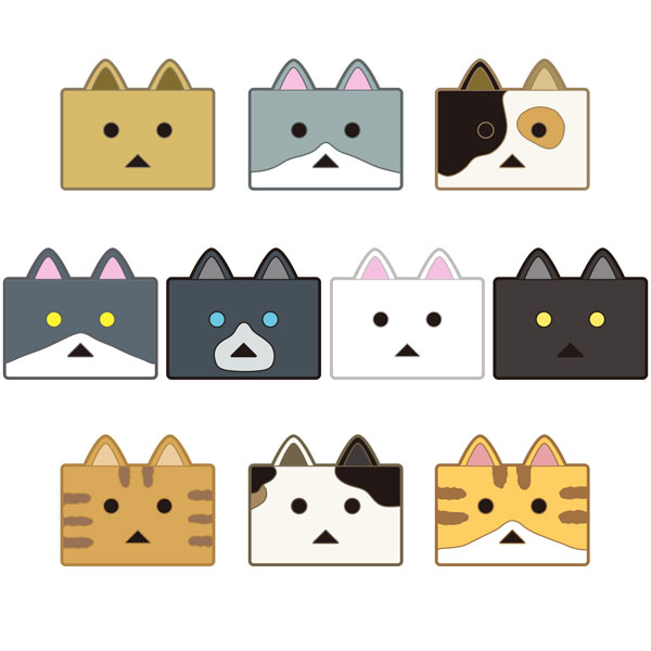 Nyanboard! - Nyanboard Rubber Magnet Set 10Pack BOX(Pre-order)