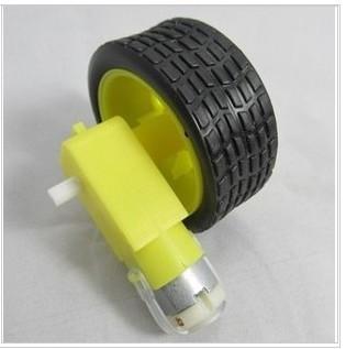 เกียร์มอเตอร์และล้อรถจำนวน 1 ชุด สำหรับ Smart Robot Car Gear Motor with Tire เฟือง 1:48