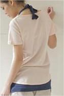 เสื้อยืด สองชิ้น สีชมพู ลายบอลลูน พร้อมเสื้อด้านในมีสายผูกคอ