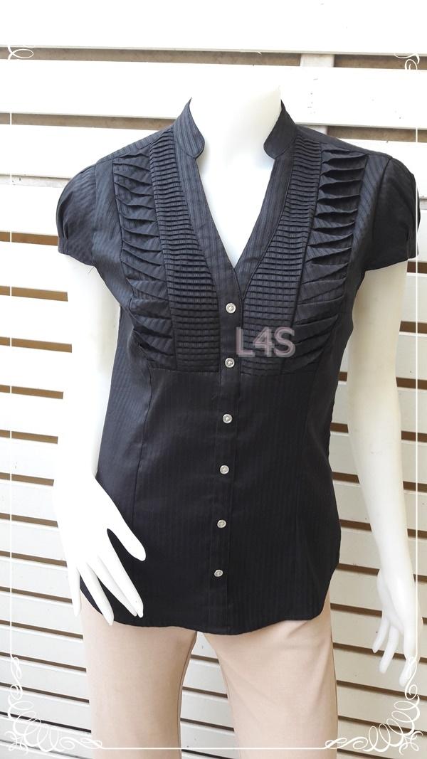 เสื้อเชิ้ต แฟชั่น นำเข้า สีดำ แบรนด์ EXPRESS อก 33-35 นิ้ว