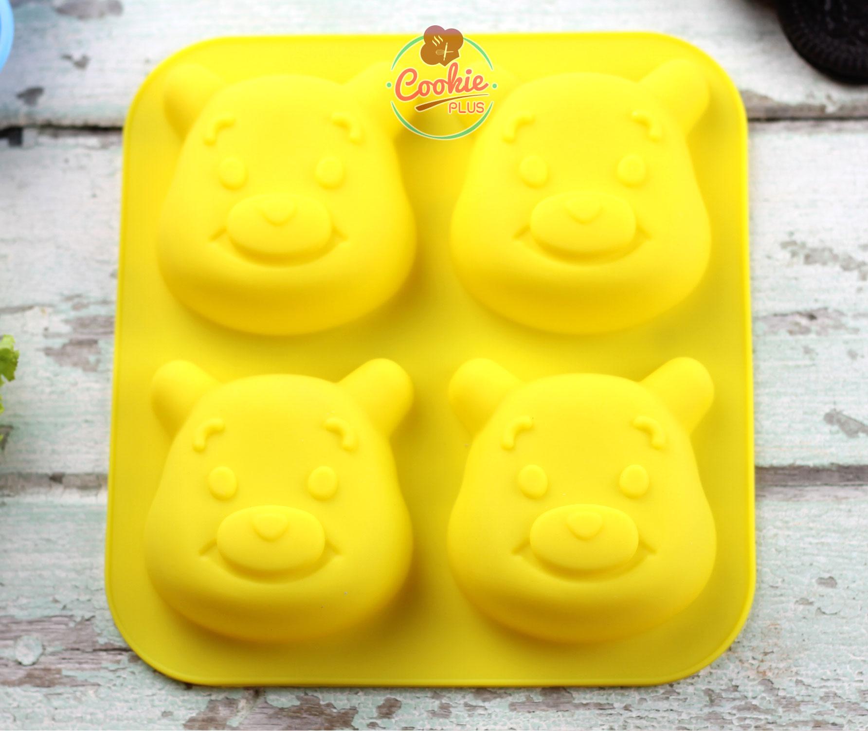 แม่พิมพ์ซิลิโคน พิมพ์วุ้น สำหรับทำขนม หมีพูห์ winnie the pooh