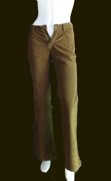BNB0489-กางเกงผ้าลูกฟูก แบรนด์เนม ESPADA สีน้ำตาล เอว 26 นิ้ว
