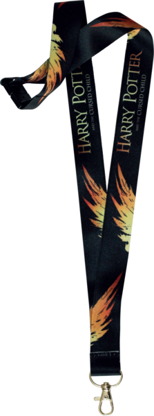 Harry Potter And The Cursed Child Black Lanyard