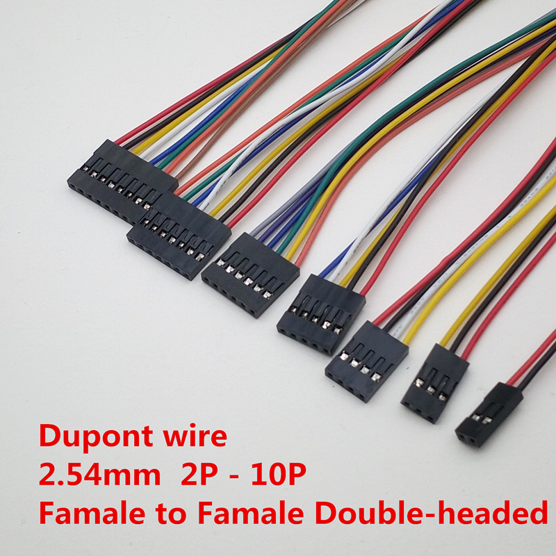 Jumper Wire สายไฟจัมเปอร์ เมีย-เมีย 6P Female to Female 6เส้น 20cm