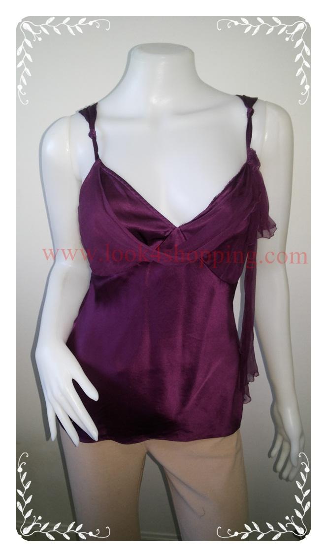 jp3263-เสื้อแฟชั่น สวยๆ สีม่วง Tessuto อก 32 นิ้ว