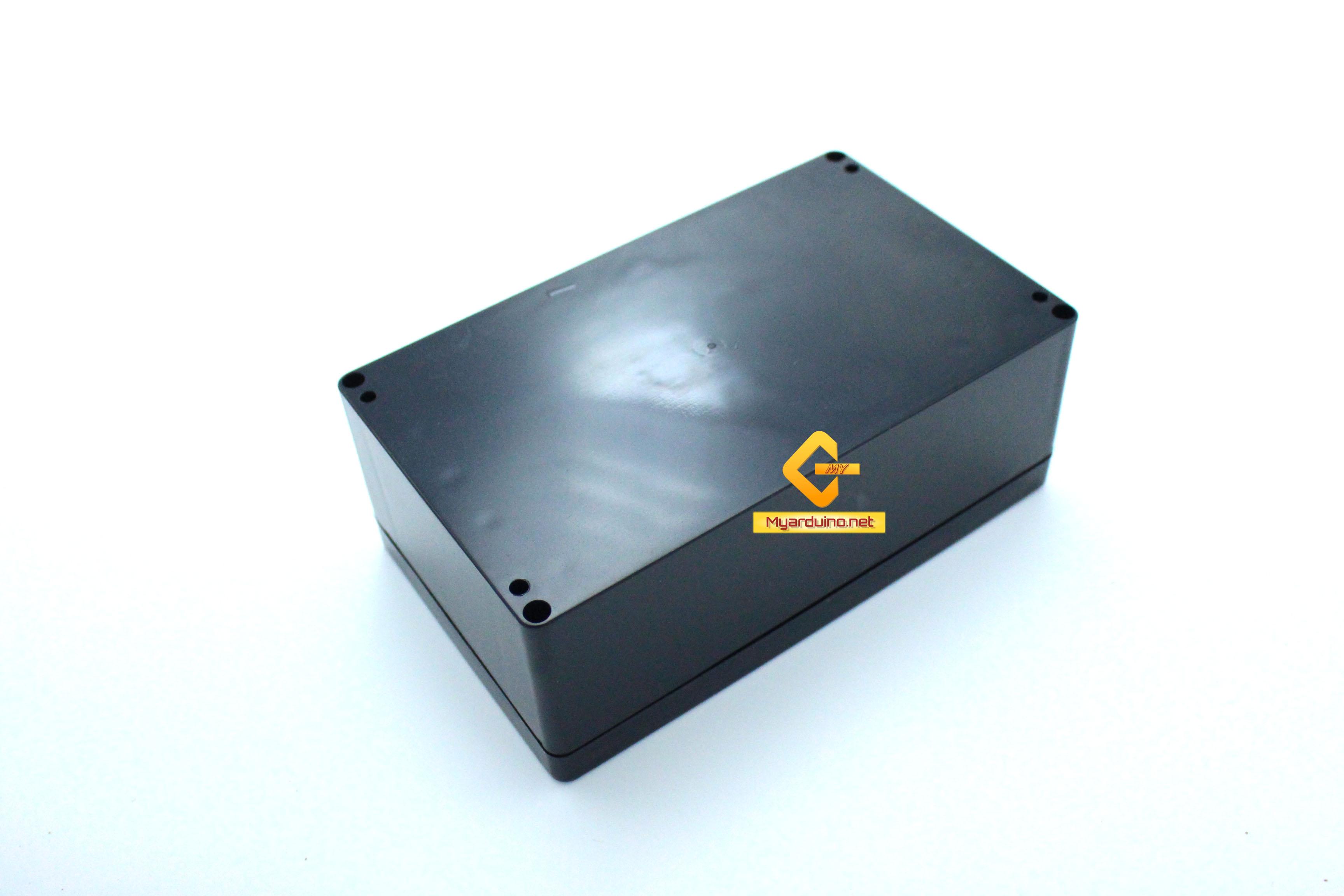 กล่องอิเล็กทรอนิกส์ อเนกประสงค์ กันน้ำ สีดำ 200*120*75mm