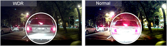 กล้องติดรถยนต์ Transcend มี WDR