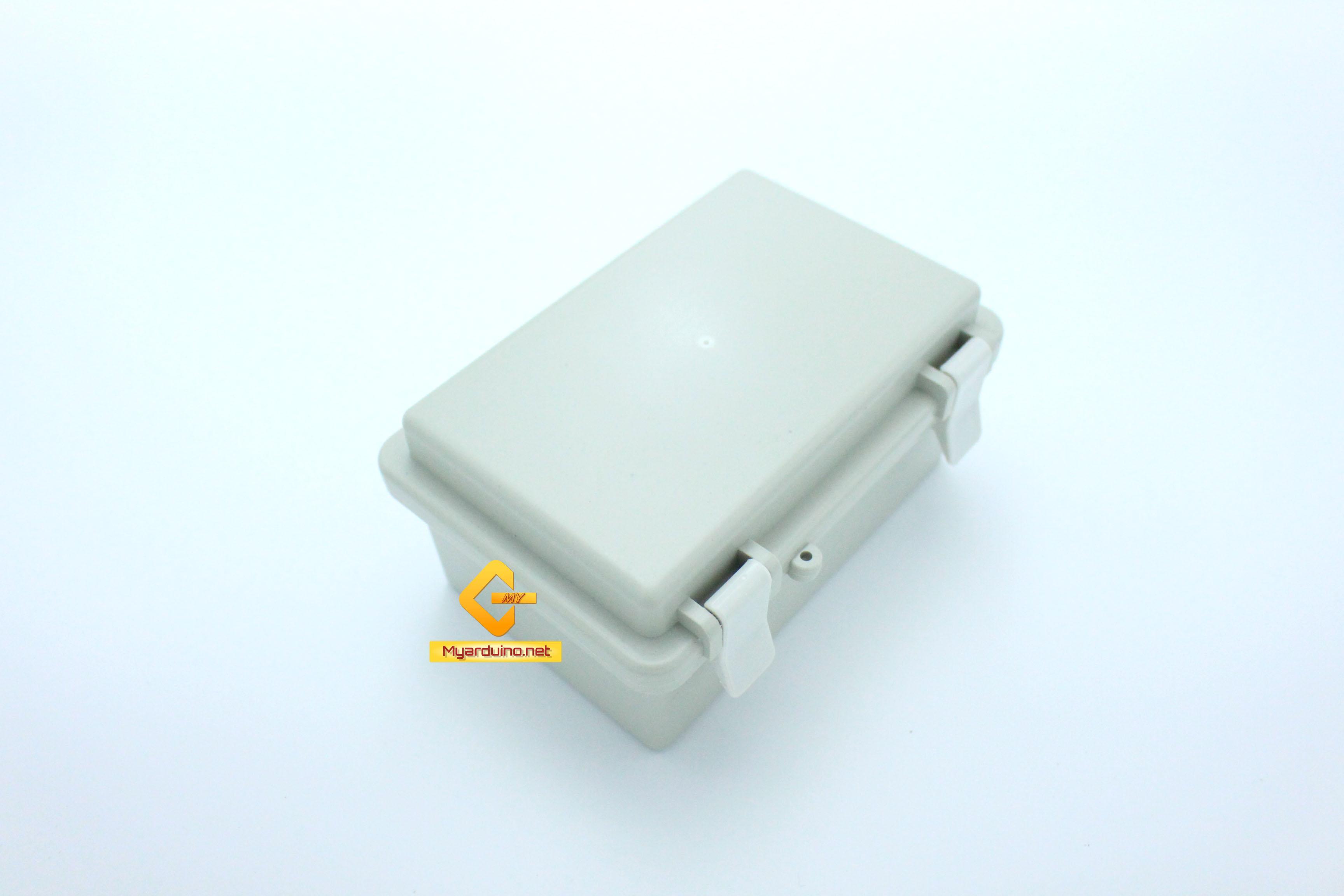กล่องอิเล็กทรอนิกส์ อเนกประสงค์ กันน้ำ สีเทา พร้อมฝาปิด 100*150*72 mm