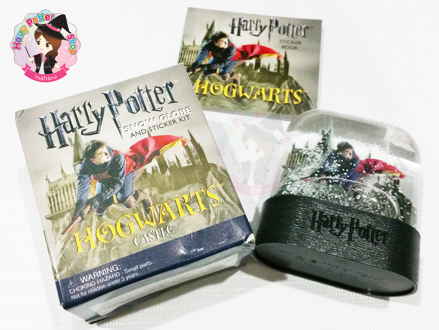 Harry Potter Hogwarts Castle Snow Globe and Sticker Kit