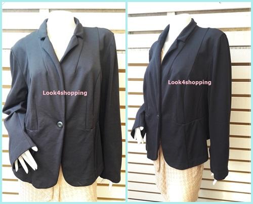 เสื้อคลุมทรงสูท มือสอง สีดำ Lane bryant อก 45-46 นิ้ว