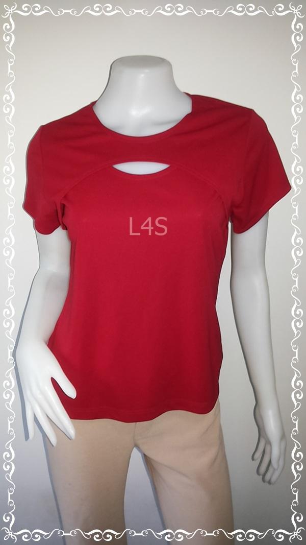 jp4139-เสื้อแฟชั่น สีแดง GEMMA USA อก 34-36 นิ้ว