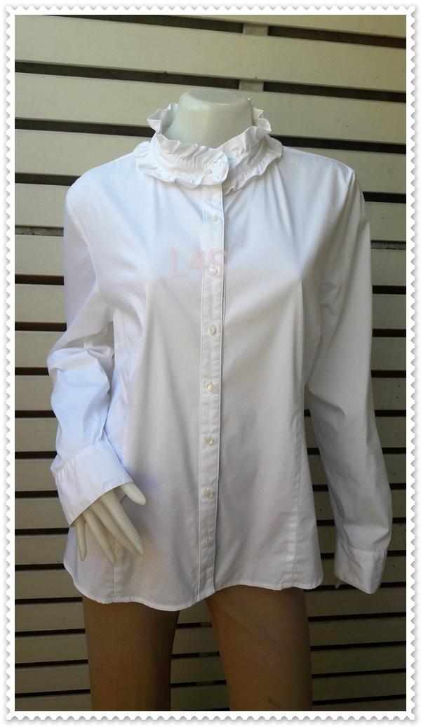 jp4836-เสื้อแฟชั่น นำเข้า สีขาว apostrophe อก 43 นิ้ว