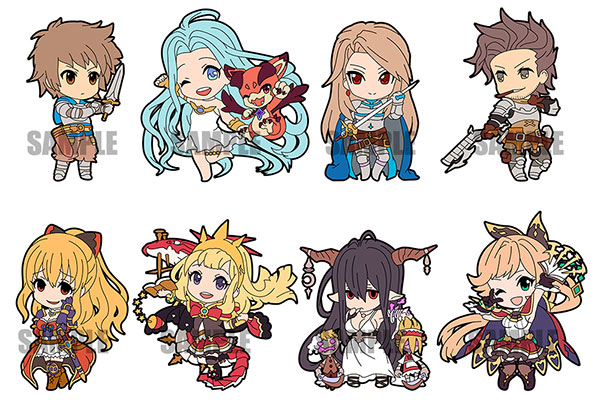 GRANBLUE FANTASY - Rubber Strap Collection vol.1 8Pack BOX(Pre-order)