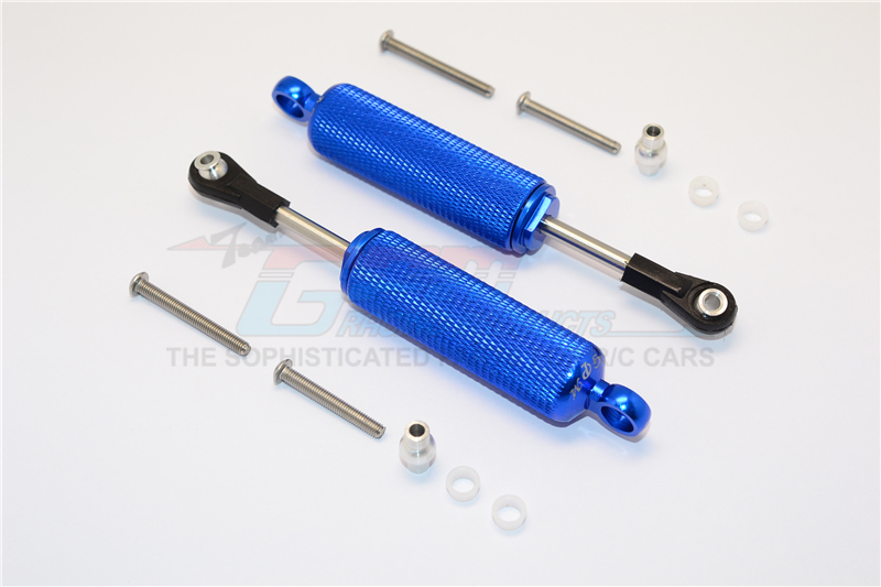ALUMINIUM FRONT/REAR INTERNAL SHOCKS (RETICULATED PATTERN) - 12PC SET