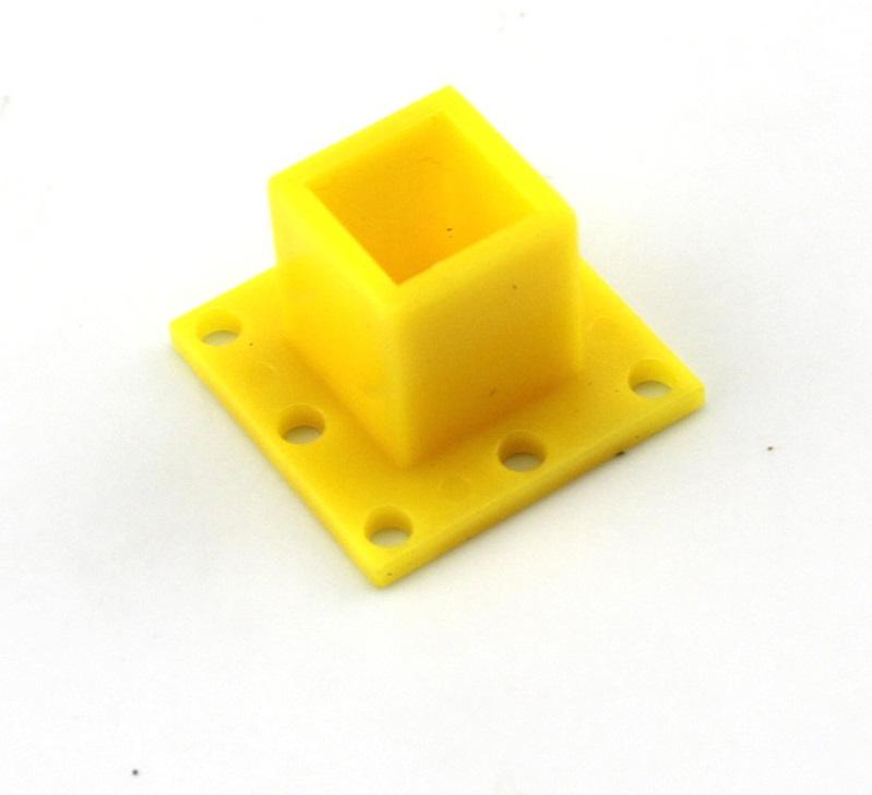 ฐาณยึด พลาสติก สีเหลือง 25*25*15mm