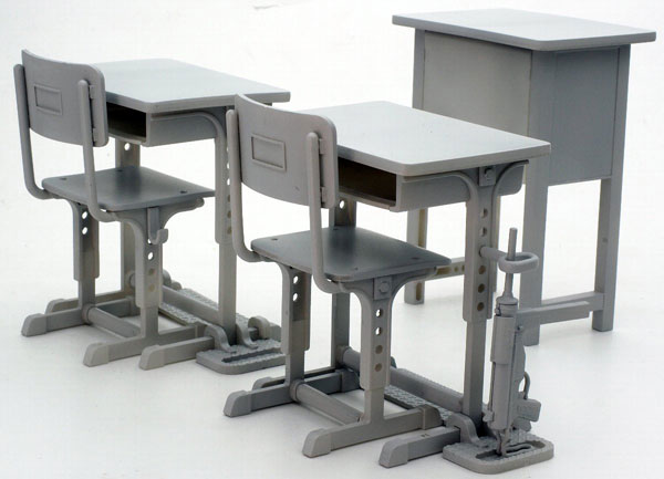 LittleArmory (LD011) Specified Defense School Desk Grease Gun Set(Pre-order)