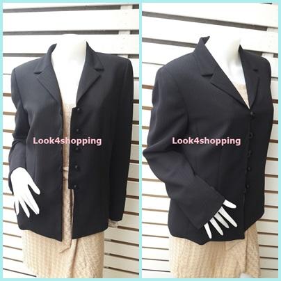 เสื้อสูท มือสอง นำเข้า สีดำ KASPER อก 38 นิ้ว