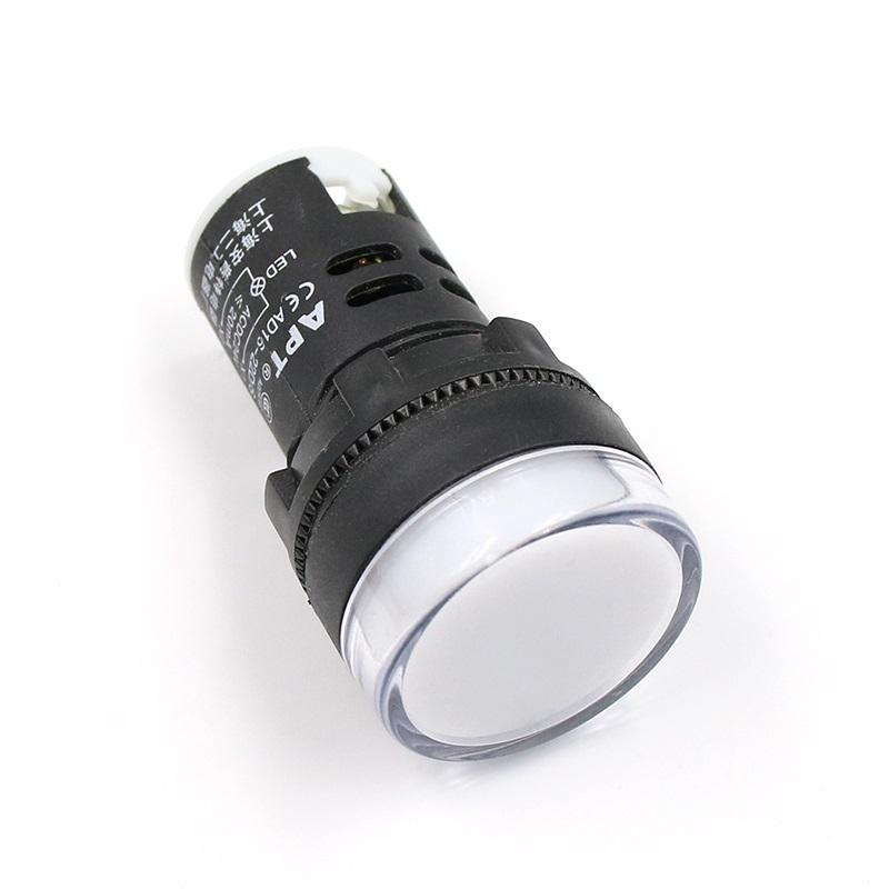 หลอดไฟสัญญาณ LED AC/DC 24V สีขาว 22mm Light Indicator Signal Pilot Lamp Pilot Lamp