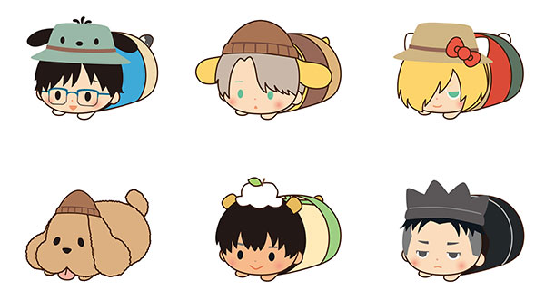 Yuri on Ice x SANRIO CHARACTERS - Mochi Kororin Vol.2 6Pack BOX(Pre-order)