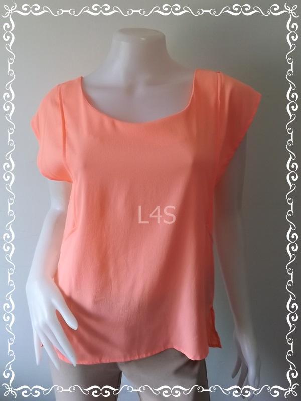 BN4161--เสื้อแฟชั่น นำเข้า สีส้มส้มชมพู American Eagle อก 36 นิ้ว