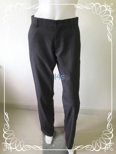 BNB1449-- กางเกงผ้า สีเทา แบรนด์ XACT เอว 32 นิ้ว