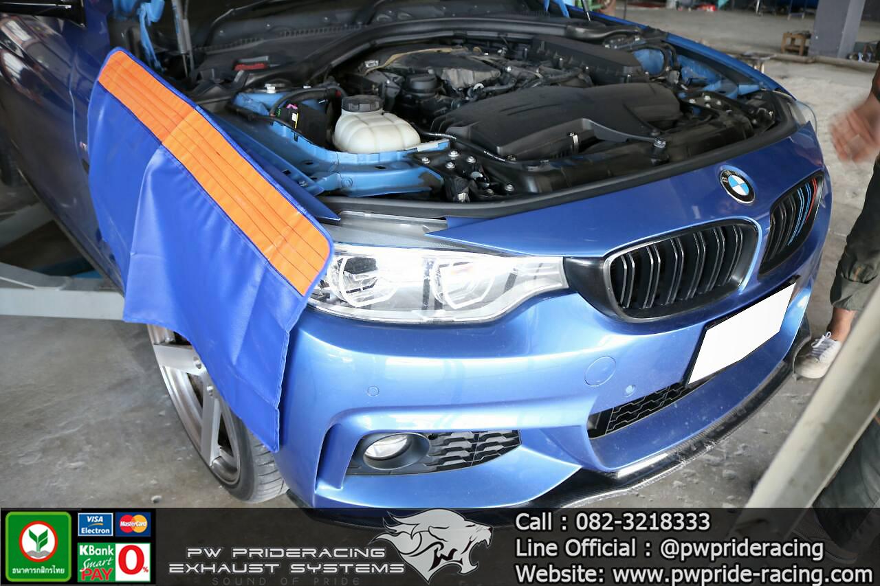 ผลงานติดตั้ง Downpipe BMW 420D F32 @PW PrideRacing