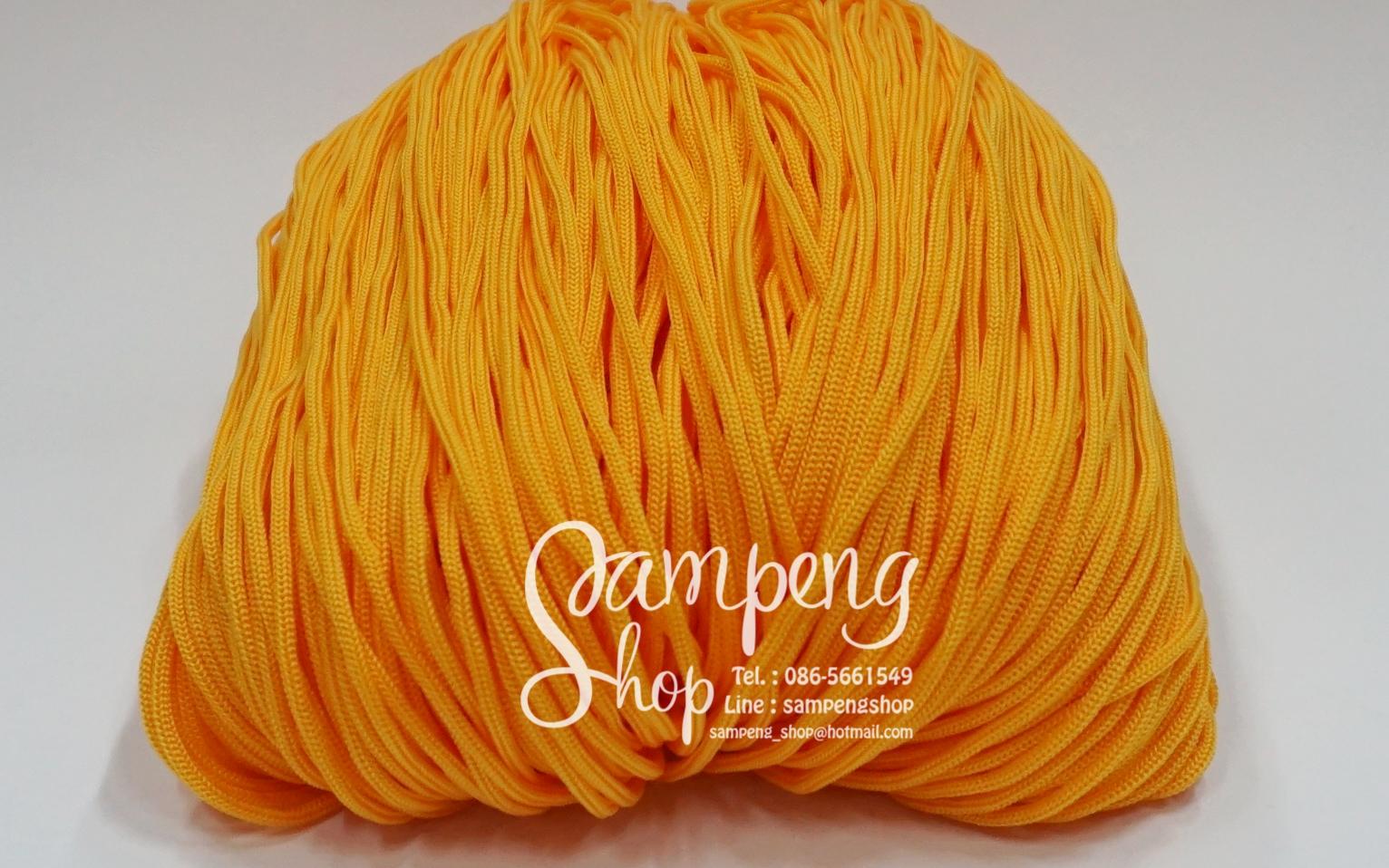 เชือกร่ม P.P. #6 สีเหลืองทอง (10เมตร)