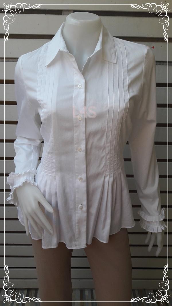 เสื้อเชิ้ต สีขาว แบรนด์ ALFANI อก 36 นิ้ว