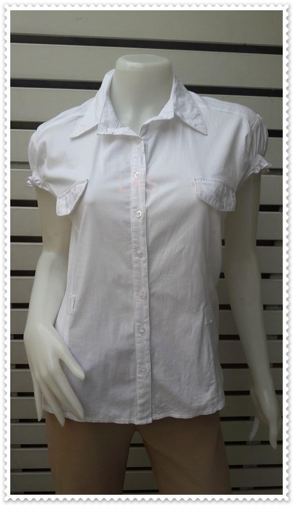 jp4843---เสื้อเชิ้ต นำเข้า สีขาว NYGSEXY อก 40 นิ้ว