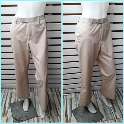 กางเกงผ้า มือสอง สีกากี แบรนด์ JASPAL เอว 32 นิ้ว