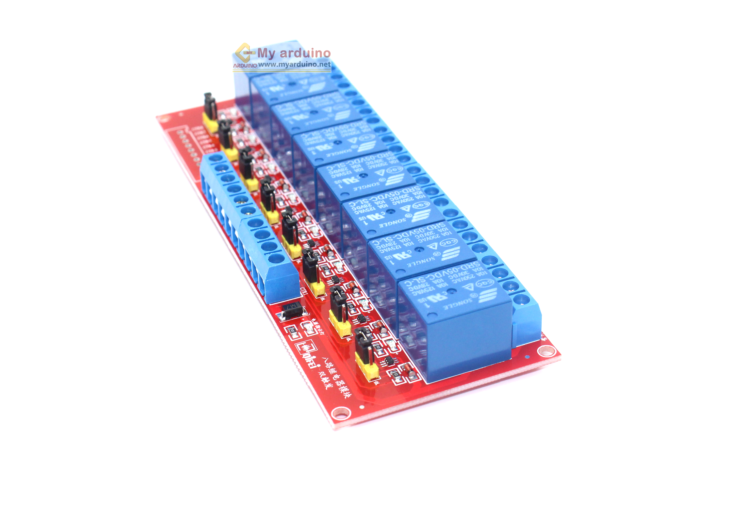 Relay Module 5V 8 Channel isolation High And Low Trigger 250V/10A