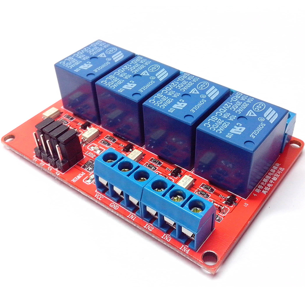 Relay Module 24V 4 Channel isolation High And Low Trigger 250V/10A