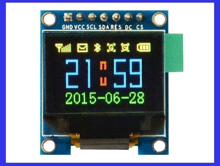 RGB OLED 96x64 Pixels 16-bit Color OLED จอแสดงผล OLED แบบสี RGB ขนาด 0.95 นิ้ว