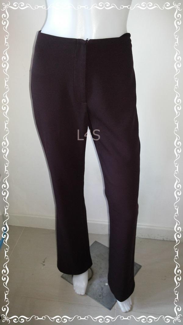 TR0024-กางเกงผ้า สีม่วงน้ำตาลเข้ม CLOTHES เอว 26 นิ้ว