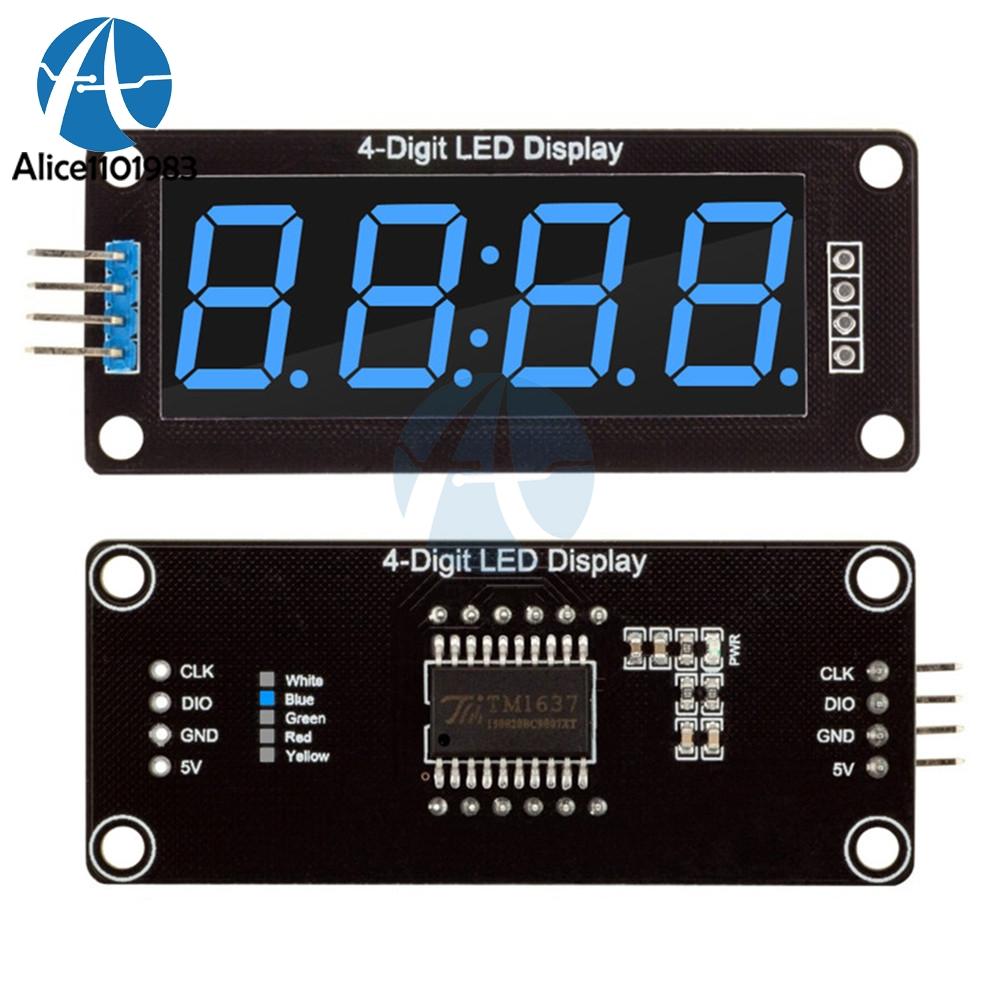 """โมดูลแสดงค่าตัวเลข 4 หลัก จุดนาฬิกา 0.56"""" TM1637 Driver สีน้ำเงิน"""