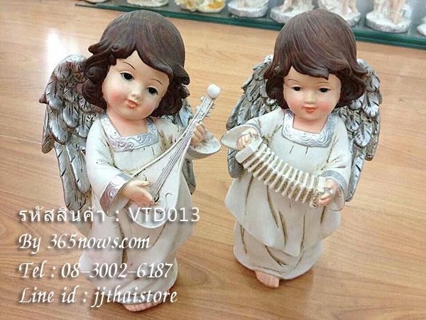 ตุ๊กตาเรซิ่นตั้งโชว์ตกแต่งบ้าน นางฟ้าเด็กหญิง 2 สาวน้อย